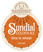 Draught - On Tap at The Black Horse Inn, Chesham - Sundial Golden Ale (Haresfoot Brewery)