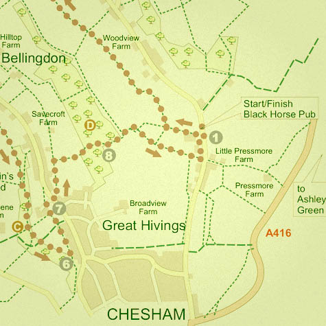 Country walks in Chesham, Buckinghamshire - Captain's Wood