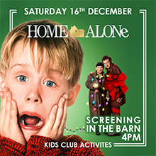 December & Christmas Events in Chesham. The Black Horse Picture House presents Home Alone!