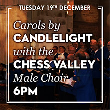 Christmas Carols in Chesham with the Chess Valley Male Choir.