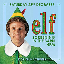 December & Christmas in Chesham. The Black Horse Picture House presents Elf!