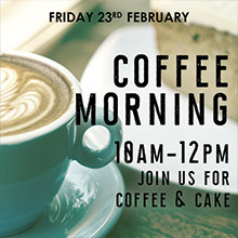 February Events in Chesham - Coffee Morning at The Black Horse Inn