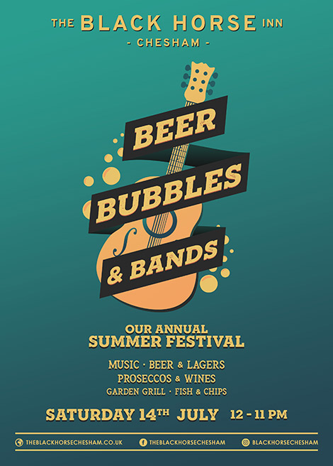 Beer Festival in Chesham - Beer, Bubbles & Bands - our annual summer festival