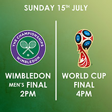 Wimbledon Men's Final & the World Cup Final live in Chesham at The Black Horse Inn