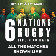 6 Nations Rugby 2018. Every game televised live at the Black Horse Inn, Chesham.