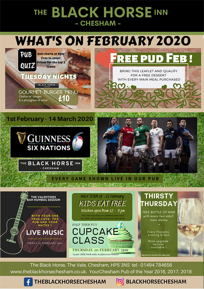 Events In Chesham - What's On At The Black Horse Inn