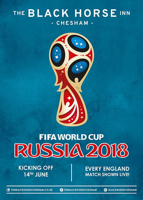 June events in Chesham - The World Cup Broadcast Live in The Barn at The Black Horse Inn!