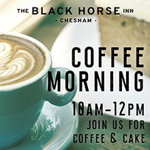 Coffe Morning in Chesham at The Black Horse Inn